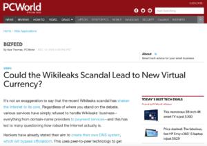 Wikileaks blog screenshot