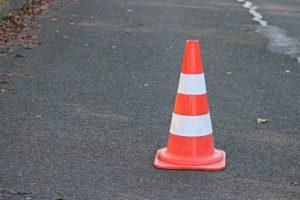 A traffic cone, sometimes called a pylon I believe